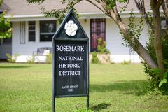 Rosemark National Historic District, Tennessee. Historic district within the city limits of Rosemark, TN. Rosemark is an unincorporated residential and farm Stock Photos