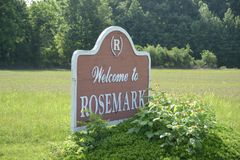 Rosemark, Tennessee. Rosemark is an unincorporated residential and farm community located along Tennessee State Route 14 in northeastern Shelby County, Tennessee Royalty Free Stock Photography