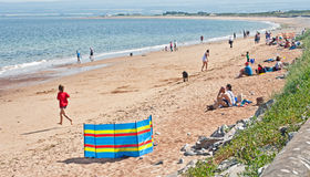 Rosemarkie beach. On the East Coast of Scotland during the heat wave of July 2013 Stock Photos
