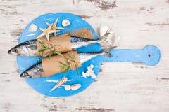 rosemary лимона еды предпосылки продукты моря черного свежего роскошного salmon курили Стоковая Фотография RF