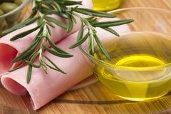 rosemary оливки oli ветчины Стоковая Фотография