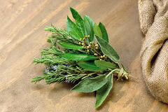 Rosemary, alloro e salvia Immagine Stock