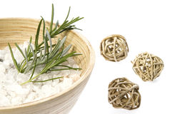 Rosemary bath. aromatherapy. Isolated on the white Royalty Free Stock Images