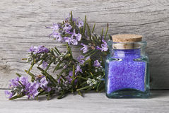 Rosemary bath salts. Stock Photos