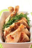 Rosemary chicken drumsticks Stock Images