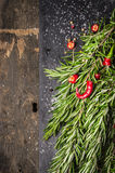 Rosemary chili brunch, food frame Royalty Free Stock Photo