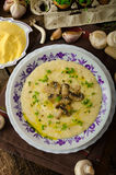 Rosemary and chilli infused polenta Royalty Free Stock Images