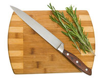 Rosemary on cutting board Stock Photos
