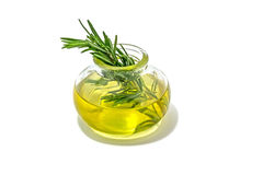 Rosemary essential oil isolated on white background. Stock Images