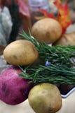 Rosemary et pomme de terre Photographie stock libre de droits