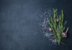 Rosemary and garlic Stock Photography