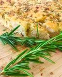 Italian Rosemary Garlic Foccacia Bread royalty free stock photos