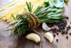Rosemary & Garlic Stock Photography