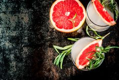 Rosemary, Grapefruit & Gin Cocktail stock afbeelding