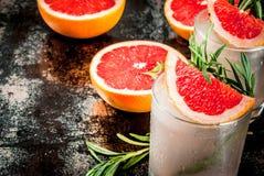 Rosemary, Grapefruit & Gin Cocktail royalty-vrije stock foto's