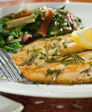 Rosemary grilled fish royalty free stock photo