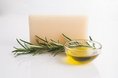 Rosemary Handmade Soap Stock Photos
