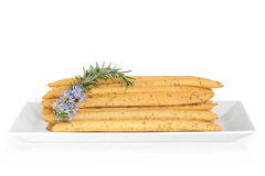 Rosemary Herb Bread Sticks Stock Photos