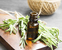 Rosemary Herb Essential Oil Bottle Royalty Free Stock Photography