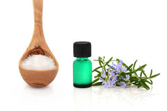 Rosemary Herb and Sea Salt Stock Photos