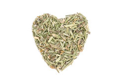 Rosemary isolated in heart shape Stock Photos