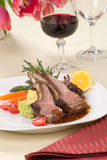 Rosemary Lamb Chops Royalty Free Stock Image