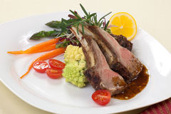Rosemary Lamb Chops Stock Images