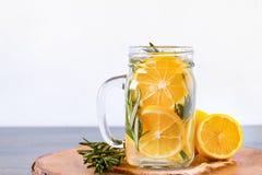 Rosemary lemon infused water Stock Photo