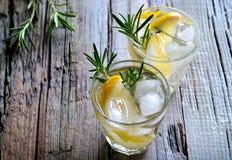Rosemary and lemon soda Royalty Free Stock Image