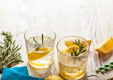 Rosemary lemonade cold cocktail drink Stock Images