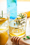 Rosemary lemonade cold cocktail drink Royalty Free Stock Photography
