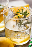 Rosemary lemonade cold cocktail drink Stock Image
