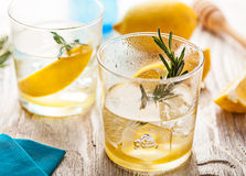 Rosemary lemonade summer cocktail drink Royalty Free Stock Images