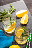 Rosemary lemonade summer cocktail drink Royalty Free Stock Photos