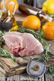 Rosemary, nutmeg and pork. Royalty Free Stock Photo