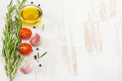 Rosemary with oil Stock Images