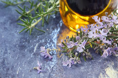 Rosemary and Olive Oil Royalty Free Stock Image