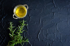 Rosemary and olive oil stock image