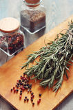 Rosemary and pepper Stock Images