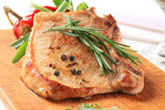 Rosemary pork chop Stock Image