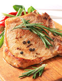 Rosemary pork chop royalty free stock photography