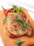 Rosemary pork chop Stock Photography