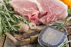 Rosemary, pork and nutmeg. Royalty Free Stock Images