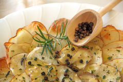 Rosemary Potato Chips Stock Photo