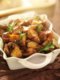 Rosemary roasted potatoes Royalty Free Stock Photography
