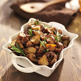 Rosemary roasted potatoes Stock Photos