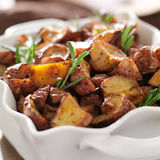 Rosemary roasted potatoes Royalty Free Stock Photos