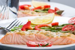 Rosemary Roasted Salmon Royalty Free Stock Image