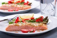 Rosemary Roasted Salmon Stock Photos