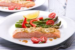 Rosemary Roasted Salmon Stock Images